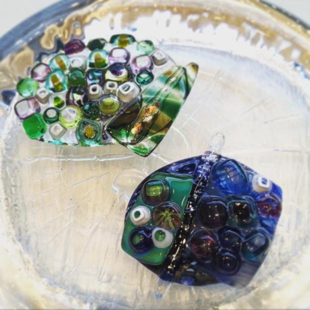 キルンワークで作るガラスアクセサリーワークショップ